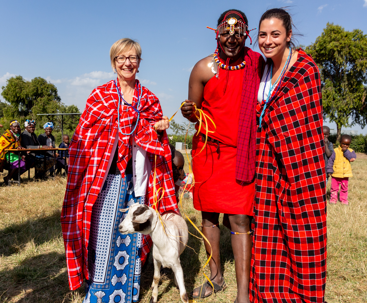 Heather Skoll and Sarah Nezon in Kenya, We Can Change the World Day, We Charity