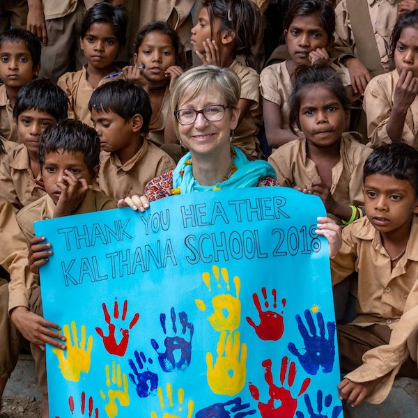 We Can Change The World Day, Heather Skoll in India